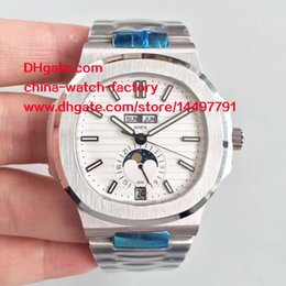 Wholesale Mps Watches - Luxury High Quality Watch MP Factory White Dial 40mm Nautilus 5726 1A Swiss CAL.324S QALU 24H Movement Mechanical Automatic Mens Watches