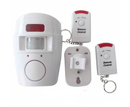 Wholesale Alarms System Home - Home Security PIR MP Alert Infrared Sensor Anti-theft Motion Detector Alarm Monitor Wireless Alarm system+2 remote controller