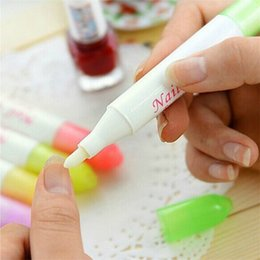 Wholesale Newest Nail Tips - Nail Art Corrector Pen Remove Mistakes + 3 Tips Newest Nail Polish Cleaner Erase Manicure Women Nail Beauty Salon