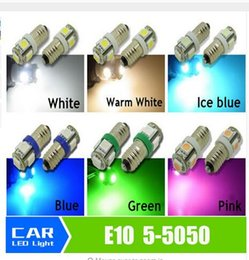 Wholesale Lionel Light Bulbs - wholesale T10 E10 5SMD 5050 1447 style Screw 12V White Bulb Light Screw Bulb for DIY LIONEL DC 12V