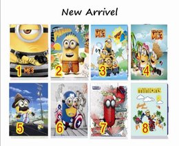 Wholesale Despicable Skin - Case for ipad 2 3 4 5 6 7 8 mini3 The MINIONS despicable me smart sleep magnetic snap tablet PU leather Cover flip stand shell coque