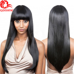 Wholesale Lace Front Wigs Chinese Bangs - Full Lace Human Hair Wigs With Bangs For Black Women Silky Straight Glueless Lace Wigs Human Hair Lace Front Wigs With Baby Hair