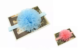 Wholesale Blended Hair Weave - Hot children's headwear NewBorn Baby Hair bands organza tape Headband baby flowers woven cross hair band Hair Accessories 6 color