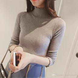 Wholesale Light Sweaters Women - Women's Turtleneck Sweater Slim Tight Basic Lightweight Ribbed Long Sleeve Light Turtleneck Top Pullover Sweater ouc055
