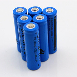 Wholesale Aa Rechargeable Batteries - UltraFire 14500 ( AA Battery ) 1200mAh 3.7V Protected Rechargeable li-ion Battery For flashlight SK68- Free shipping