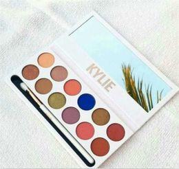 Wholesale Eyeshadow Gels - 2017 Kylie Kyshadow Eyeshadow Pressed Powder Eyeshadow Matte Eyeshadow Gel Waterproof Eye Shadow 12 color Free DHL