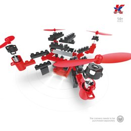 Wholesale Quadcopter Blue - 902S aerial aircraft RC Drone Quadcopter unmanned aerial vehicles assembled blocks Cr