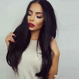 Wholesale Good Cheap Lace Front Wigs - Lace Front Wigs Silky Straight Very Cheap Price Hot Sell Good Quality Malaysian Human Hair Wigs Glueless Natural Color Can Dyed Wig In Stock