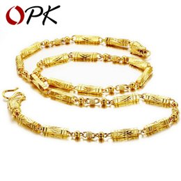 Wholesale Men S Gold Chain Necklace - Opk Jewellery Top Quality Gold Color Necklace Chain Cool Design Attractive Men 'S Jewelry 611