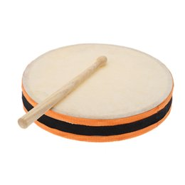 "Wholesale Kids Percussion Instrument - Wholesale-8"" Wood Hand Drum Dual Head with Drum Stick Percussion Musical Educational Toy Instrument for KTV Party Kids Toddler"