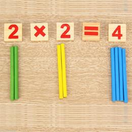 Wholesale Wooden Symbols - Wholesale- Mathematical Intelligence Stick Preschool Educational Wooden Digital Symbols Children Toys