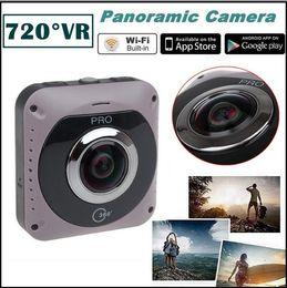 Wholesale Video Cmos Sensor Lens - Original 360 Panoramic VR Video Camera Recorder Mini WiFi Action Sports DV Double Sided Fish Eyes Lens Gravity Sensor Cam