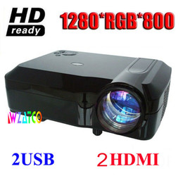 Wholesale 3d Home Theater System - Wholesale-Cheaper 5000 Lumens LCD display HD Full HD LED 3D Projector 1280*800 1080P multimedia home theater system 50,000hrs led lam