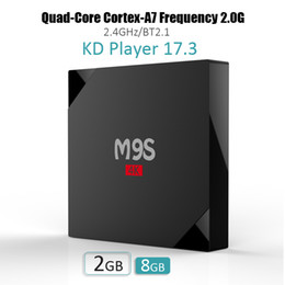 Wholesale Cheap 3d Tvs - cheap android 6.0 m9s smart tv box KD17.3 fully loaded Exodus rk3229 quad core bluetooth support 3d free 4k movies bet mxq