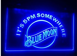 Wholesale Home Neon - b-102 blue moon beer bar pub club 3d signs LED Neon Light Sign home decor shop crafts