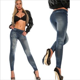 Wholesale Sexy Leggings Tattoo Print - Wholesale- New Women Jeans Sexy Butterfly Printed Tattoo Jeans Leggings Female Casual Outwear Denim Skinny Jeans Pants