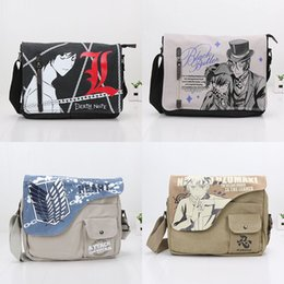 Wholesale Anime Plush Black Butler - Anime plush toys Uzumaki Naruto Shoulder Bag Crossbody Bag Black Butler Bags Student Messenger Canvas Bags stuffed plush school Bag