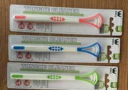 Wholesale Cheap Tongue - Cheap plastic tongue toothbrush Oral Care Tongue scraper Cleaner brush Tongue scraper Fresh breath Make Oral Hygiene Toothbrush Tools