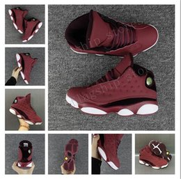 Wholesale Cheaper Basketball Shoes - Wholesale new arrival cheaper Wine Red Air 13 Retro new styly Mens Basketball Shoes best quatily High Sports Sneakers best quatily