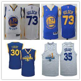 Wholesale Champions Basketball Jerseys - golden states blue white champion basketball jerseys 73 wins jerseys 30 curry 35 kd jerseys free shipping