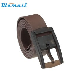 Wholesale Rubber Waistband - Wholesale- Womail Unisex plastic buckle belt Solid color silicone rubber waistband correa for man woman 2017 Gift 1PC