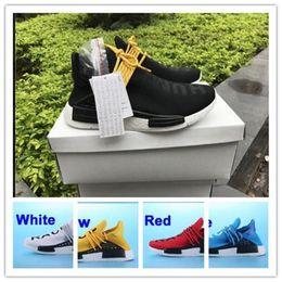 sneakers for cheap ae710 7b050 2017 Pharrell Williams NMD RAZA HUMANA en zapatillas de deporte clásicas del  deporte de las mujeres de los hombres blancos negros rojos amarillos rojos  del ...