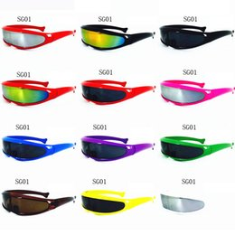 Wholesale Sports Fishing - Fashion X-Men Fish-shaped Sunglasses Men Polarized Cycling Sun Glass Brand Designer outdoor Sport Riding Eyewear 12 colors Optional For sale