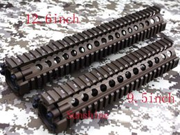 Wholesale M4 M16 Handguard - Split type 7&9.5&12.6 inch Picatinny rail aluminum handguard rail system for AEG M4 M16