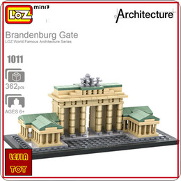 Wholesale Germany Toys - LOZ ideas Mini Blocks John Brandenburg Gate World Famous Architecture Series Germany Mini Plastic Building Block Educational Toy Bircks 1011