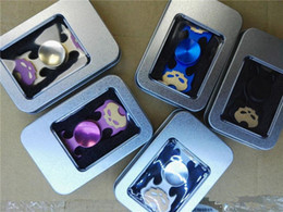 Wholesale Top Toys For Women - TOP skull head Fingertip vision spinner Gyro Decompression Anxiety Toys for men and women EDC aluminium alloy