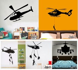 airplane jets Promo Codes - Vinyl Plane Wall Sticker Jet Art Wall Stickers Many Types of Airplane DEcals Kids Rooms Helicopter Home Decor Free Shipping