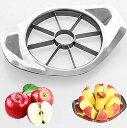 Fette di mele online-Affettatrice per mele in acciaio inox Verdura Frutta Mela Pera Taglierina Affettatrice Utensili da cucina Utensili da cucina KKA2271