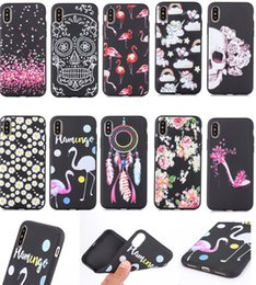 Wholesale Apple Matting - Slim TPU Patterned Case For iPhone 8 X i8 iX Matte Luxury Protective Cover with Premiun Soft Printed Flower Silicone Matting Phone Covers