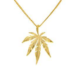 Wholesale Leaf Pendant Gold - Gold Plated Maple l Leaf Pendant Necklace Men Women Hip Hop Charm Herb 60cm Cuban Chains Necklaces Mens Fashion Hiphop Jewelry Birthday Gift
