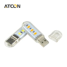 Wholesale Reading Christmas Lights - Wholesale- 1Pcs Mini Emergency Atmosphere LED Night light Desk Book Reading lamp Camping Bulb Children's gifts For Mobile Charger Laptops