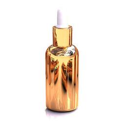 Botella esencial de oro online-caliente sale100pcs lujo 30 ml botella de cristal gotero vacío, mayorista de oro 30 ml tapas de gotero para aceites esenciales, gotero botellas de vidrio