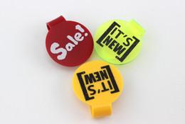 55x48mm POP Iscriviti clip vendita club stampato cosmetici salone del chiodo scarpe promozione vendita contrassegno indumento tag plastica AD pop clip tag indumento da