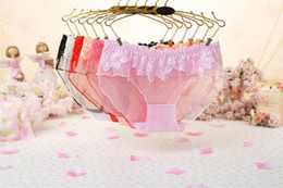 Wholesale Sexy Laced Panties - Sexy Women's Underwear Lace Transparent Lady 's Underwear Low Waist Women's Triangle Panties for Women 6 Pieces   Bag JP895 free shipping