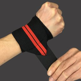 Wholesale Universal Weight - Wholesale- 1 PAIR Nylon Wrist Wraps Weight Lifting Sports Safety Support Universal Men Women Sport Safety Wrist Support HW004