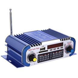 Wholesale Mini Stereo Sound Digital Power - Mini Hi-Fi HY601 Digital Motorcycle Auto Car Stereo Power Amplifier Sound Mode Audio Music Player Support 2 Channel USB SD FM