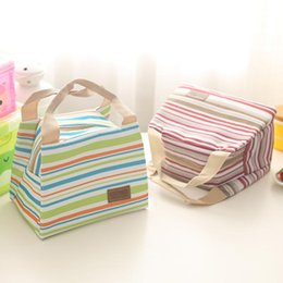 Wholesale Wholesale Insulated Food Bags - Insulated Thermal Cooler Lunch Box Picnic Carry Tote Storage Bag Case Travel Picnic Food Lunch box bag Portable Lunch Bag KKA2353