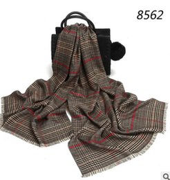 Wholesale muffler scarf for men - Luxury Brand Designer Scarves For Women Classic British Stylish Plaid Muffler Thick Long Scarfs and Shawls Wraps Hijab Pashmina Female Scarf