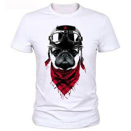 Wholesale Pug Print T Shirt - Wholesale- Cool New T Shirts Men the adventure dog Top Tees Pug Life Tshirts O Neck Camisetas Polyester Short Sleeve T-shirts Tops