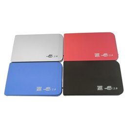 Wholesale External Slim Enclosure - 4 Color S2502 EL5018 USB 2.0 HDD Hard Drive Disk HDD Enclosure External 2.5 Inch Sata HDD Case Box Super Slim Aluminum alloy Mobile Disk