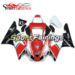 Wholesale Yamaha R1 Red White - Red White Injection Fairings For Yamaha YZF1000 YZF R1 00 01 2000 2001 ABS Plastics Motorcycle Fairing Kit Bodywork Cowling Frames Cover New