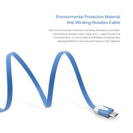 Wholesale Micro Usb Noodle 2m Charger - 1m 2m 3m Android Noodles Micro USB Sync Data Charging Charger Cable Cord For Samsung Galaxy xiaomi huawei htc