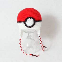 Canada Chapeau de caractère de nouveauté Anime, tricoté à la main au Crochet bébé garçon fille jumeaux chapeau de balle de dessin animé vert rouge, costume Halloween pour enfants, accessoires de photo enfant Offre