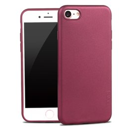 Wholesale Iphone Silicon Case Frosted - for iPhone 7Plus 7 Frosted Silicon Case X-Level Guardian Soft Matte TPU Case for iPhone 7 Plus Scrub Back Cover for iPhone7 Capa
