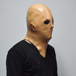 "Wholesale Alien Ufo Extra Mask - mask headband Alien UFO ET Rubber Masks Movie ""Extra Terrestrial"" Cosplay Latex Props Scary Halloween Party Mask for Kids Toys"