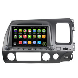 """Wholesale Hd Player Honda - Quad core Android 5.1 HD 8"""" Car DVD Player for Honda CIVIC (Right) 2006-2011 With Radio GPS 3G WIFI Bluetooth TV USB 16GB ROM Car DVD"""
